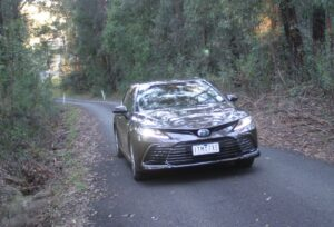 Toyota Camry Ascent Hybrid on road